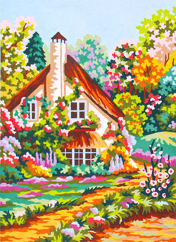 Spring in the Garden - Collection d'Art Needlepoint Canvas