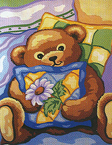 Teddy  - Collection d'Art Needlepoint Canvas
