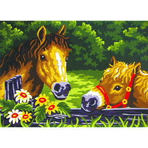 The Ponies  - Collection d'Art Needlepoint Canvas