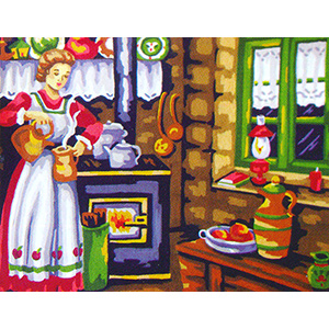 In the Kitchen  - Collection d'Art Needlepoint Canvas