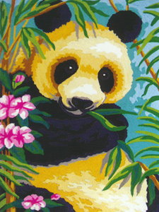 Panda  - Collection d'Art Needlepoint Canvas