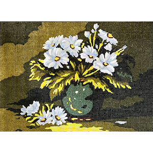 Vase of Flowers  - Collection d'Art Needlepoint Canvas