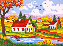 Summer in the Valley - Collection d'Art Needlepoint Canvas