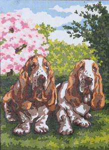 Two Hounds  - Collection d'Art Needlepoint Canvas