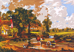 Hay Wagon - Collection d'Art Needlepoint Canvas
