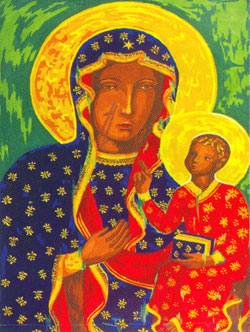 Icon Madonna and Child  - Collection d'Art Needlepoint Canvas