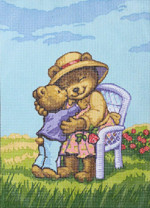 Grandma Bear & Cub  - Collection d'Art Needlepoint Canvas