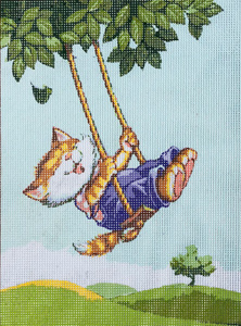 Wheeeee  - Collection d'Art Needlepoint Canvas