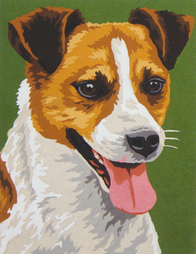 Terrier  - Collection d'Art Needlepoint Canvas