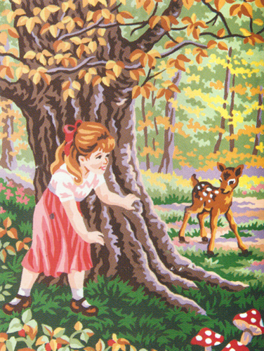 Hide 'n' Seek  - Collection d'Art Needlepoint Canvas