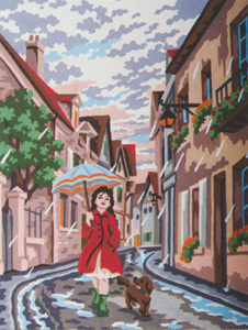 Singing in the Rain  - Collection d'Art Needlepoint Canvas