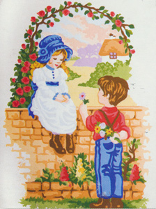 Sweethearts  - Collection d'Art Needlepoint Canvas