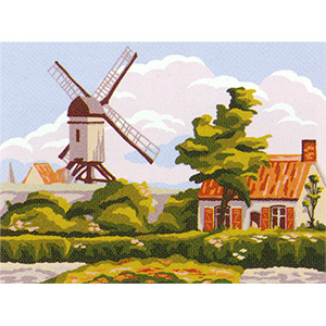 Wind Mill  - Collection d'Art Needlepoint Canvas