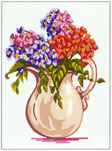 Pitcher of Flowers  - Collection d'Art Needlepoint Canvas
