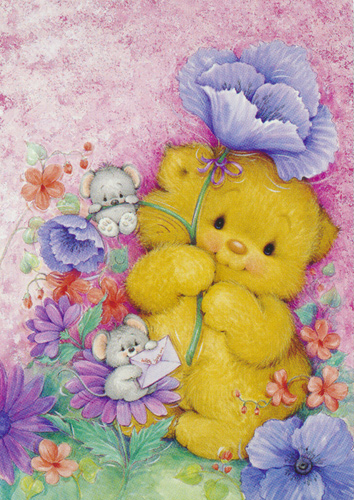 Teddy Hug  - Collection d'Art Needlepoint Canvas