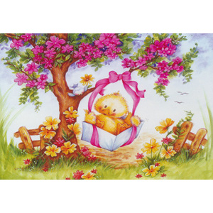 Duckling Swing  - Collection d'Art Needlepoint Canvas