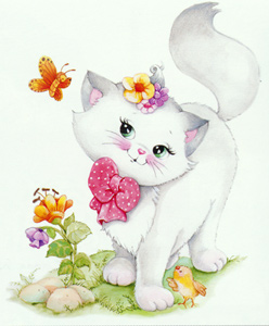 Pretty Kitty  - Collection d'Art Needlepoint Canvas