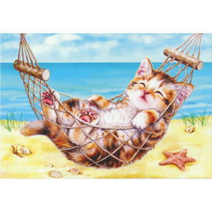 Kitten on Holiday  - Collection d'Art Needlepoint Canvas