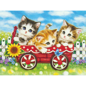 Sunflower Kittens  - Collection d'Art Needlepoint Canvas