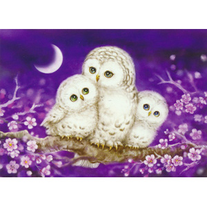 Owl Family  - Collection d'Art Needlepoint Canvas