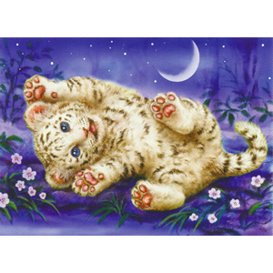 Happy Tiger  - Collection d'Art Needlepoint Canvas