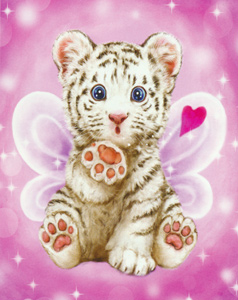 Baby Tiger Kiss  - Collection d'Art Needlepoint Canvas