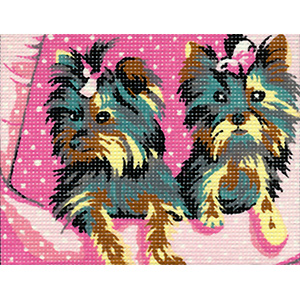 Margot Creations de Paris Needlepoint - Picture Kits - Yorkies