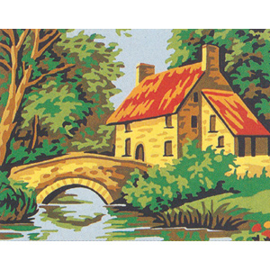 Margot Creations de Paris Needlepoint - Picture Kits - Stone Bridge House