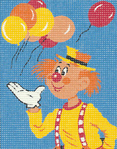 Margot Creations de Paris Needlepoint - Picture Kits - Clown with Balloons