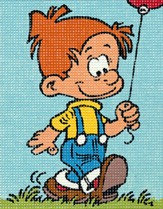Margot Creations de Paris Needlepoint - Picture Kits - Little Boy with Balloon