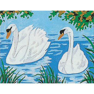 Margot Creations de Paris Needlepoint - Picture Kits - Two Swans