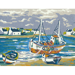 Margot Creations de Paris Needlepoint - Picture Kits - Fishing Harbor