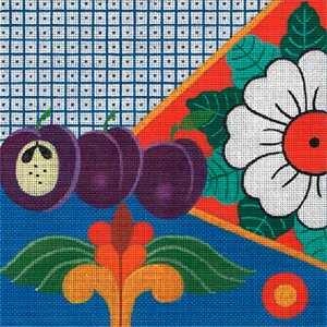 Leigh Designs - Hand-painted Needlepoint Canvases - Baja Collection - Rosarito