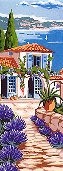 Margot Creations de Paris Needlepoint (Cote Sud) Southern View Small Canvas