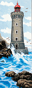 Margot Creations de Paris Needlepoint (Le Phare) The Lighthouse Small Canvas