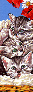 Margot Creations de Paris Needlepoint - Les Chatons (The Kittens)