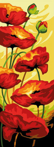 Margot Creations de Paris Needlepoint - Coquelicots (Poppies)
