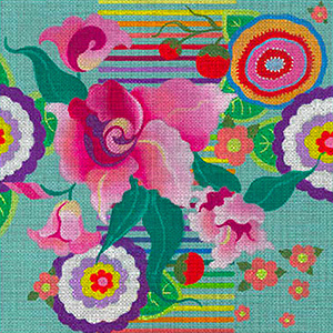 Leigh Designs - Hand-painted Needlepoint Canvases - Guadalajara Collection - Zapopan