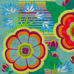 Leigh Designs - Hand-painted Needlepoint Canvases - Guadalajara Collection - Jalisco