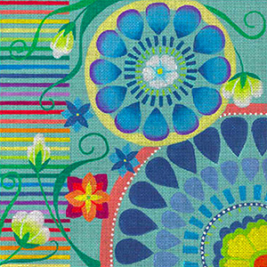 Leigh Designs - Hand-painted Needlepoint Canvases - Guadalajara Collection - Rotonda