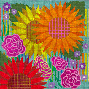 Leigh Designs - Hand-painted Needlepoint Canvases - Guadalajara Collection - Hidalgo