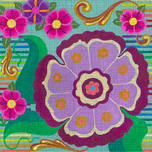 Leigh Designs - Hand-painted Needlepoint Canvases - Guadalajara Collection - Calandria