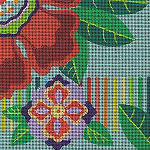 Leigh Designs - Hand-painted Needlepoint Canvases - Guadalajara Collection - Charro Coaster