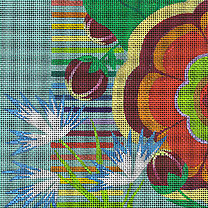 Leigh Designs - Hand-painted Needlepoint Canvases - Guadalajara Collection - Jalisco Coaster