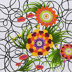Leigh Designs - Hand-painted Needlepoint Canvases - Staccato Collection - Allegro Canvas