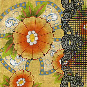 Leigh Designs - Hand-painted Needlepoint Canvases - Espana - Barcelona