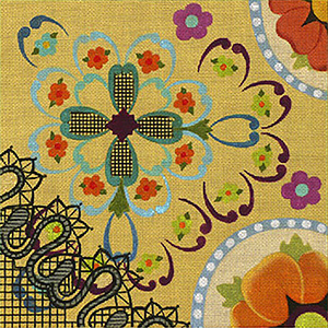 Leigh Designs - Hand-painted Needlepoint Canvases - Espana - Granada