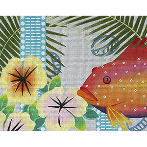 Leigh Designs - Hand-painted Needlepoint Canvases - Caribe - Montego