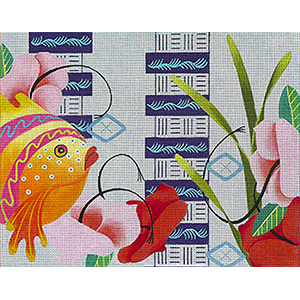 Leigh Designs - Hand-painted Needlepoint Canvases - Caribe - Barbados