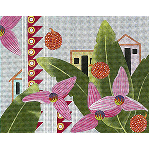 Leigh Designs - Hand-painted Needlepoint Canvases - Caribe - Trinidad